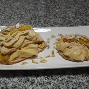 Dacquoise de coco y pistacho