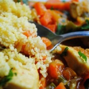 Pollo al curry con Couscous