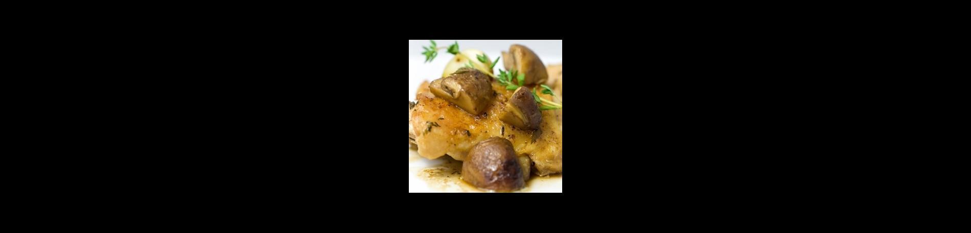 Pollo ahumado con champignons