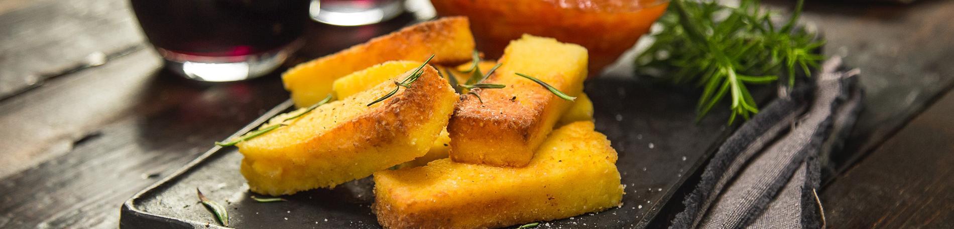 Bastones de polenta